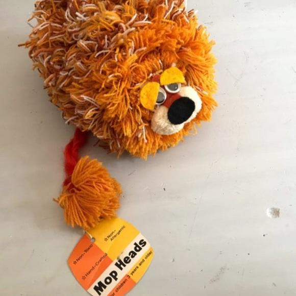"""1970's Vintage Toy """" Mop Head """" Lion"""